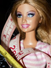 I am that tall and that wide, or am I that wide and that tall? #measurement (marieschubert1) Tags: measurement tape measure inches cm barbie doll tall wide macromondays