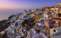 Oia Sunset 3, Santorini, Greece (AdelheidS Photography) Tags: view popular mediterranean aegean colourful bluehour sunset oia santorini adelheidsphotography greece