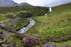 Waterfall (albireo 2006) Tags: easabhradain isleofskye scotland waterfall stream skye heather