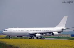 F-WWJB Airbus A340-8000 (@Eurospot) Tags: hzhms v8ac3 fwwjb airbus a340 a340200 a3408000 brunei lfbo toulouse blagnac