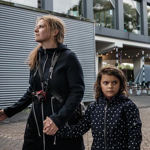 Amsterdam, Center, Mother&Daughter, Netherlands, Street