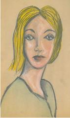 color pencils face (DREADNOUGHT2003) Tags: pencil doodle chalk paints drawings art sketch