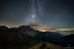 New Lens, new Luck (Wim Air) Tags: laowa 15mmf2 milky way dolomites alps seceda flashlight wimairat south tyrol
