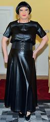 Birgit027557 (Birgit Bach) Tags: fullskirt glockenrock shirt fauxleather kunstleder