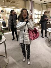 Dublin! (kaylasarenson) Tags: magenta pink sequins purse pocketbook handbag jimmychoo dublin ireland departmentstore brownthomas