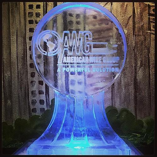 @buyawg enjoying a nice night @hyattaustin with @goensouth and this #logo #icesculpture #fullspectrumice #thinkoutsidetheblocks #brrriliant #branding - Full Spectrum Ice Sculpture