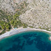 Aerial view of Nikolaos Beach Hydra