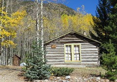 Nice Tidy Privy Out Back (Patricia Henschen) Tags: chaffeecounty sawatch range mountains mountain aspen autumn fall color gold silver mine mines mining ruins ghosttown stelmo mtprinceton chalkcreek nathrop colorado canyon sanisabelnationalforest leafpeeping fallcolor county road backroad clouds countyroad162 chaffee privy cabin