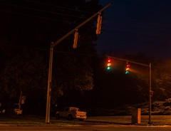 Red light, yellow light, green light (bryanfcohen) Tags: traffic light red yello green long exposure full frame nikon d700 50mm