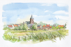 Wijnendale, België (Linda Vanysacker - Van den Mooter) Tags: wijnendale belgië flandre flanders vlaanderen westvlaanderen watercolor watercolour visiblytalented vanysacker vandenmooter tekening sketch schets potlood pencil lindavanysackervandenmooter lindavandenmooter drawing dessin croquis crayon art aquarelle aquarell aquarel akvarell acuarela acquerello