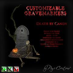 ღ ♡  Gravemarkers - Death by Candy Lt by Page Creations™ ♡ ღ (Raven Page) Tags: halloween props decor mesh spooky scary fog pumpkins gothic goth