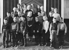 Class photo (theirhistory) Tags: boy children kid girl school class form group pupils jumper trousers wellies rubberboots shoes