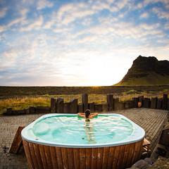Holidays (Zeeyolq Photography) Tags: woman holidays iceland life islande sunset relax hottub