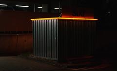 Lights in the dark (frankdorgathen) Tags: alpha6000 sony sony35mm minimalismus minimalistic minimalism light illumination dark carhire carrental ruhrpott ruhrgebiet essen limbeckerplatz autovermietung sixt nacht night