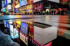 Reflection of Time Square (EugeneClassyAlbum) Tags: timesquare newyork nyc newyorkcity newyorklife ny newyorkphotography night neonlight nightlight nightstreet manhattan midtown sony sonya7 sonyphotography newyorktaxi