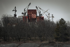 Reactor Number 5, Chernobyl Exclusion Zone, Ukraine (KSAG Photography) Tags: nuclear darktourism ghosttown abandoned powerstation history ukraine chernobyl europe soviet cranes rust nikon april2018 landscape disaster exclusionzone pripyat ussr building trees dead radiation radioactive
