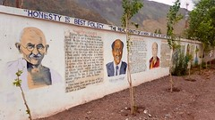 Great Indian leaders on the school walls, Khaltse Secondary School