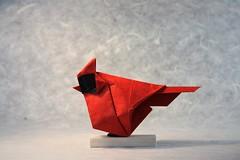 Cardinal - Beth Johnson (pierreyvesgallard) Tags: origami paper folding craft beth johnson cardinal bird animal