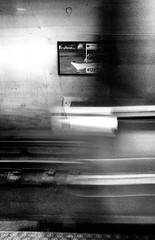 In the Morning - 2 of 3 (draketoulouse) Tags: chicago loop jackson cta blackandwhite monochrome motion blur contrast street streetphotograpy sign city urban