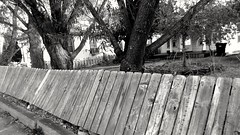 The Fallen (brandoninidaho1979) Tags: fence fallen pocatello blackwhite