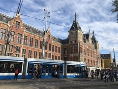 Amsterdam Centraal / Central Railway Station, Holland - October 2018 (firehouse.ie) Tags: tramstop trams tram premises building holland centralstation trainstation stations railroad rail train railway station amsterdamcentraal amsterdam