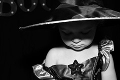 A Witch For Halloween (ashleighmorden182) Tags: blackandwhite daughter halloween witch