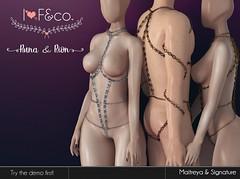 Runa & Rion (unisex) (Ainadara Resident) Tags: i3f co maitreya fashion original mesh event exclusive chains kinky male unisex men man slave