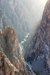 Lighting the Abyss (Kirk Lougheed) Tags: blackcanyon blackcanyonnationalpark blackcanyonofthegunnison blackcanyonofthegunnisonnationalpark colorado gunnisonriver paintedwall usa unitedstates canyon landscape nationalpark outdoor park river water
