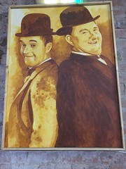 Stan Laurel and Oliver Hardy. (Bennydorm) Tags: actors performers twosome humorous humour jovial lancashire morecambe wintergardens inglaterra inghilterra angleterre europe uk gb britain england bowlerhats hats doubleact 2 two duo pair celebrities famous fun mirth laughter filmstars moviestars comedians comedy image portrait stan oliver oliverhardy stanlaurel laurelandhardy
