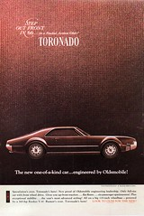 1966 Oldsmobile Toronado Sports Coupe  USA Original Magazine Advertsement (Darren Marlow) Tags: 1 6 9 19 66 1966 o olds oldsmobile t toronado s sport coupe c car cool collectible collectors classic a automobile v vehicle g m gm general motors american america u us usa united states 60s