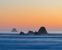 Ruby Beach Seastacks (Byron O'Neal) Tags: ruby beach olympic olympicnationalpark nationalpark washington ocean sea sunset orange sony seastack seastacks water surf coastline coastal olympics