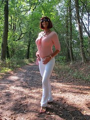 Different style, same pleasure (Paula Satijn) Tags: sexy hot girl pink white pants forest woods outside fun joy happy elegant feminine girly girlie cute pretty smile