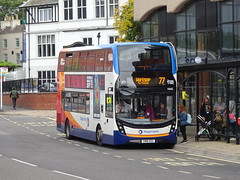 Stagecoach 10665 Chesterfield (Guy Arab UF) Tags: stagecoach east midlands 10665 sn16ozg alexander dennis e40d enviro 400 bus chesterfield new beetwell street derbyshire buses