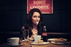 Hardest Goodbye (Виго) Tags: table glass sofa dining coffee girl bar coca cola retro vintage woman sofia bulgaria cake pastry