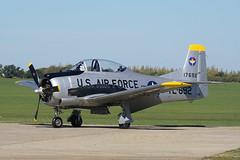 G-TROY Sywell 25-09-18 (IanL2) Tags: northamerican t28 trojan fennec sywell aerodrome northamptonshire aircraft trainer usaf