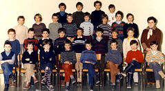 Class photo (theirhistory) Tags: children kids boys school class pupils form group teacher jacket jumper trousers wellies jeans shoes wellingtons
