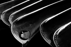 Canoes (j-rye) Tags: lkg blackandwhite canoe boat sonyalpha sonya6000 sony a6000 ilce6000 mirrorless abstract metal aluminum bw sln10