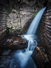 Cascade below Norman Hill Reservoir (Craig Hannah) Tags: newhey walk walking stroll lancashire saddleworth england uk october 2018 craighannah photography photos canon landscape longexposure bigstopper normanhillreservoir