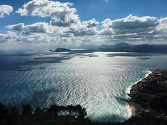 "(Marci's) Tags: mediterraneo cloud sky cielo nuvole italy italia landscape azzurro sicily sicilia palermo ""montepellegrino"" panorama sea mare iphone"