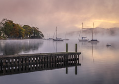 "Almost ""mist"" it.... (urfnick) Tags: ambleside england unitedkingdom gb cumbria nationalpark windermere mist fog misty lake refelctions"