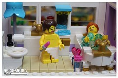 I have raccomanded you not to put your lipsticks together with toothbrushes... (EVWEB) Tags: lego minifigures man woman husband wife bath wc bathroom lipstick toothbrushes humor fun