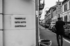 1984 (michelevico) Tags: 1984 orwell relax city calm bw bn blackwhite biancoenero perspective lines line urban turin italy wall