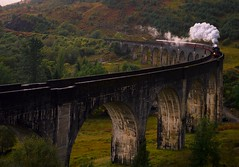 She'll be coming round the mountain when she comes (Phil-Gregory) Tags: nikon d7200 glenfinnan viaduct scotland steamengine steamtrain jacobite highlands hogwartsexpress