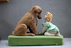 A Girl and Her Dog (JB by the Sea) Tags: southiceland southconstituency suðurkjördæmi southcoast iceland ísland europe september2018 skógar skogar rangárþingeystra skógarfolkmuseum skógasafn