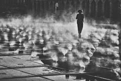 L'Ankou.... (Isa-belle33) Tags: people street streetphotography brume fog brouillard urban urbain city ville bordeaux fujifilm bnw blackwhite blancetnoir blackandwhite monochrome solitude alone