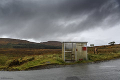 How considerate! (andyrousephotography) Tags: scotland isleofskye dunvegan waternish geary minorroads a850 b886 busshelter lonechair thehighlandcouncil backandbeyond isolated weather grey raining downpour tellitasitis