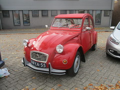 1976 Citroen 2CV (occama) Tags: 94ya55 1976 citroen 2cv red old french car netherlands holland