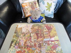 Markit day (pefkosmad) Tags: jigsaw puzzle hobby leisure pastime vintage complete used secondhand towerpress carlton theoldflowermarket 196064 tedricstudmuffin teddy ted bear animal toy cute cuddly fluffy plush soft stuffed