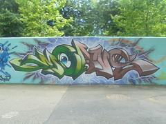 451 (en-ri) Tags: moans verde marrone indaco qbk parco dora torino wall muro graffiti writing