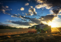 Transformer (ianrwmccracken) Tags: harvester sunset crop starw evening agriculture machine claastucano430 fife barley scotland leslie cloud combine a6000 sky farm mechanised sony contrejour field